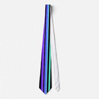 turquoise purple stripe tie