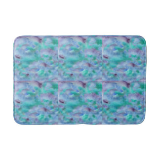 Turquoise Purple Watercolor Medium Bath Mat