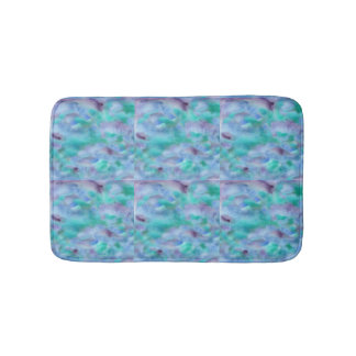 Turquoise Purple Watercolor Small Bath Mat