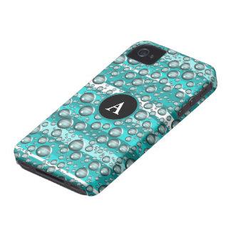 turquoise raindrops iPhone 4 Case-Mate case