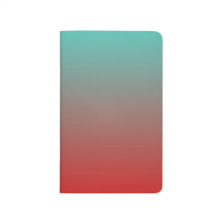 Turquoise Red Ombre Journal