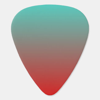 Turquoise Red Ombre Plectrum