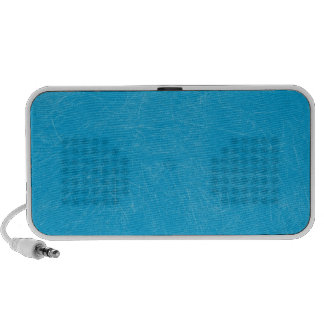 Turquoise Retro Grunge Scratched Texture Travelling Speaker