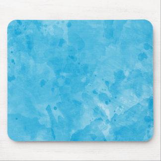 Turquoise Retro Paint Splatter Texture Pattern Mousepads