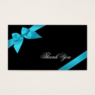 Turquoise Ribbon Thank You Minicard Business Card