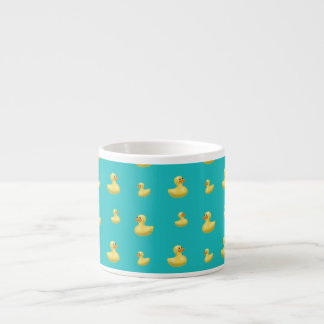 Turquoise rubber duck pattern espresso cups