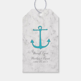 Turquoise Rustic Anchor Wedding Gift Tags