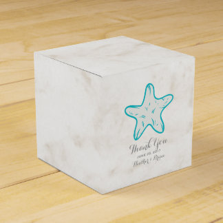 Turquoise Rustic Starfish Wedding Party Favour Boxes