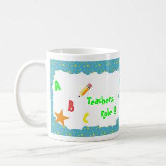 Turquoise School Chalkboard Teachers Rule Mug
