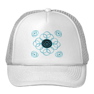 Turquoise Scroll & Knot Cap Mesh Hat