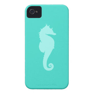 Turquoise Sea Horse 2 iPhone 4 Case-Mate Case
