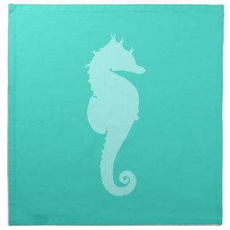 Turquoise Sea Horse 2 Napkin