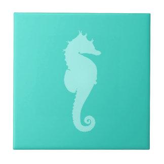 Turquoise Sea Horse 2 Tile
