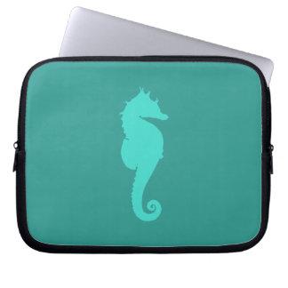 Turquoise Sea Horse Laptop Sleeve