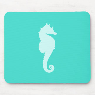 Turquoise Sea Horse Mouse Mat