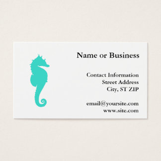 Turquoise Sea Horse on White