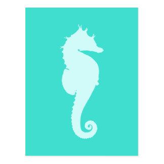 Turquoise Sea Horse Postcard