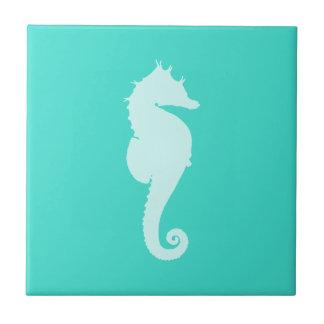 Turquoise Sea Horse Tile