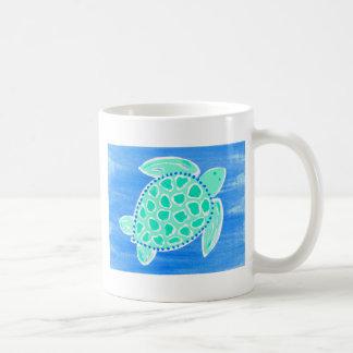 Turquoise Sea Turtle Mugs