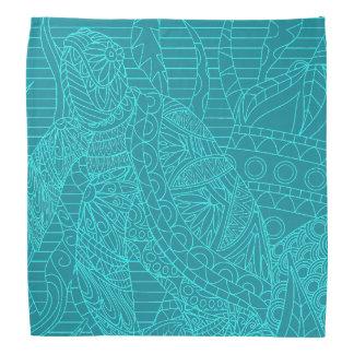 Turquoise Sea Turtle teal ocean tropical Kerchiefs