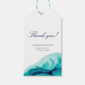 "Turquoise Sea | Wedding ""thank you"" Gift tags"
