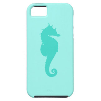 Turquoise Seahorse 2 Tough iPhone 5 Case