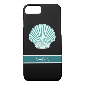Turquoise Seashell Name Drop iPhone 7 Case