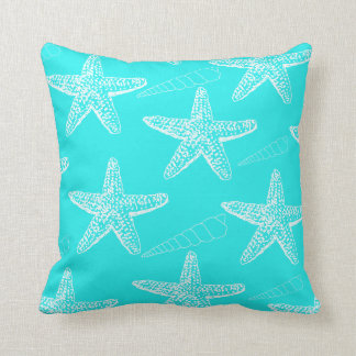 Turquoise Seashell Pillow