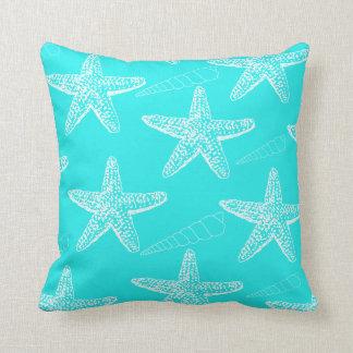 Turquoise Seashell Pillow