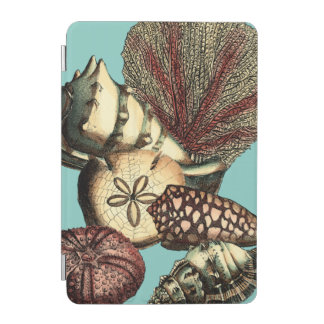 Turquoise Shell and Red Coral Collection iPad Mini Cover
