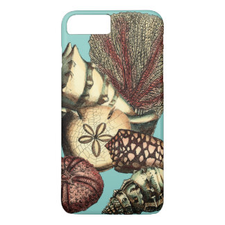 Turquoise Shell and Red Coral Collection iPhone 8 Plus/7 Plus Case