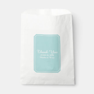 Turquoise Simply Elegant Wedding Favour Bags