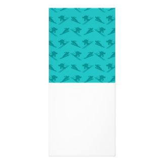 Turquoise ski pattern customized rack card