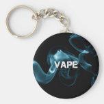 Turquoise Smoke Vape On Basic Round Button Key Ring