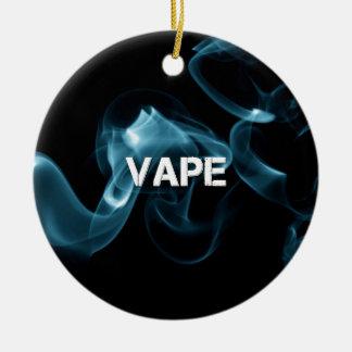 Turquoise Smoke Vape On Christmas Ornament