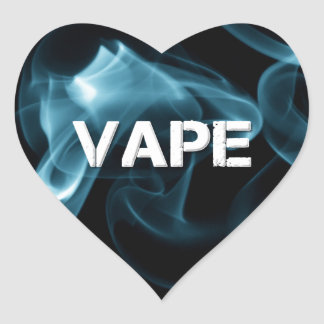 Turquoise Smoke Vape On Heart Sticker