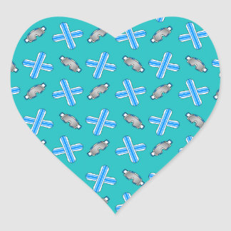 turquoise snowboard pattern stickers