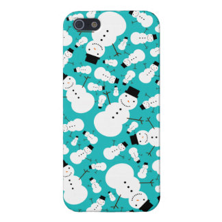 Turquoise snowmen cover for iPhone 5/5S