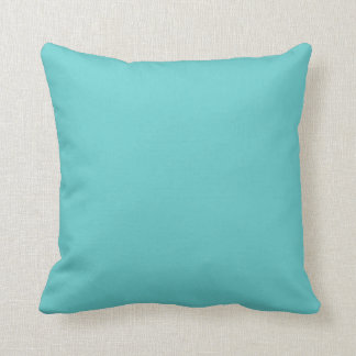 Turquoise Solid Accent Pillow Throw Pillow