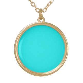 Turquoise Solid Color Personalized Necklace