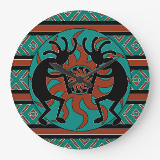 Turquoise Southwest Design Kokopelli Wall Clocks