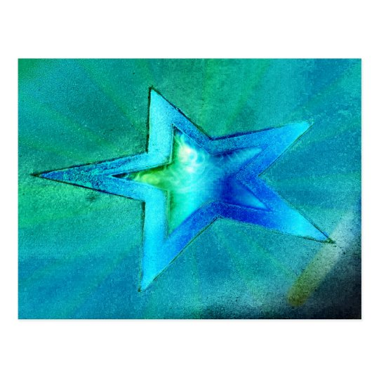 turquoise Star Postcard