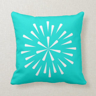 Turquoise Star Throw Pillow