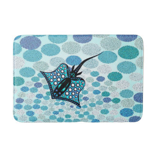 TURQUOISE STINGRAY 105 MULTI-SPOT. BATH MAT