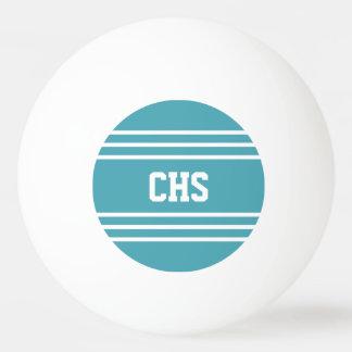 Turquoise Stripes custom monogram balls