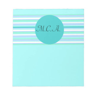 Turquoise Stripes Notepad