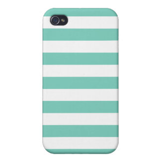 Turquoise Stripes Pattern iPhone 4 Cover