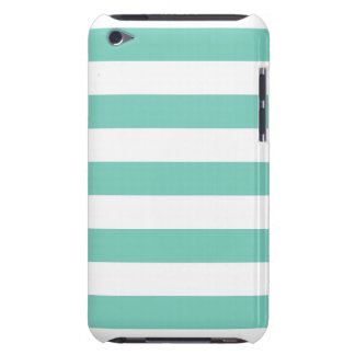 Turquoise Stripes Pattern iPod Touch Cover