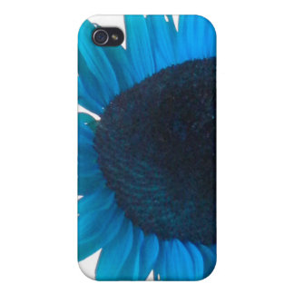 Turquoise Sunflower iPhone 4/4S Cover