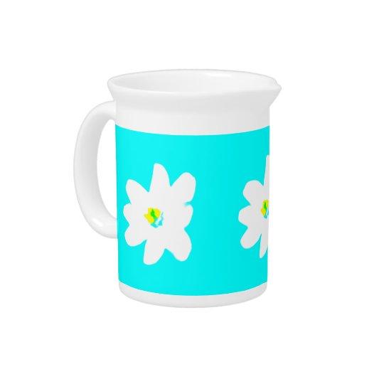 Turquoise Sunshine Floral 4Penelope Beverage Pitchers